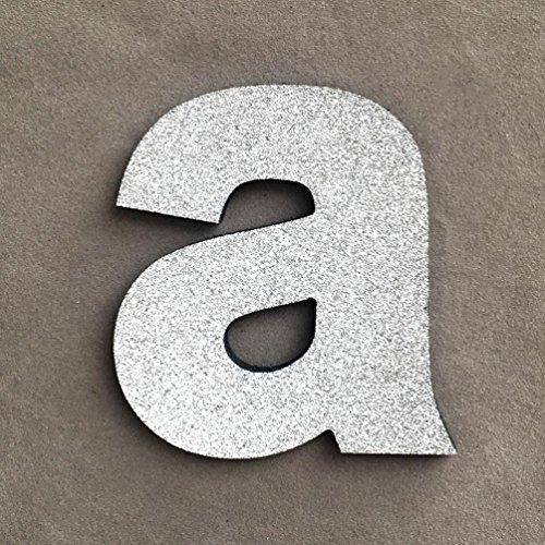 erthome A-Z Alphabet DIY Schaum Buchstaben Wandaufkleber Hochzeit Geburtstag Party Hauptdekorationen (A, Silber) (Metall Y, Wand-dekor Buchstaben)
