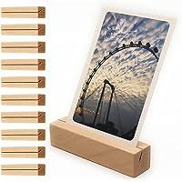 GerTong Segnaposto Legno Supporto, Portacarte da Tavolo Porta Carte, 10 pezzi segnaposto matrimonio, per foto e numeri…