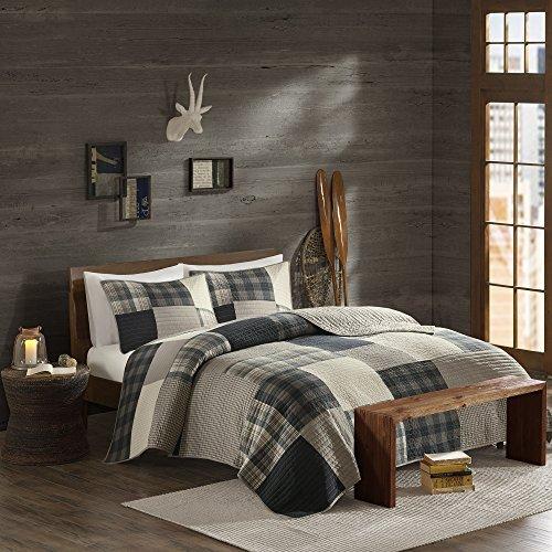 Woolrich, Inc. Winter Hills Quilt Mini Set Cal, Tan, King/Lime King