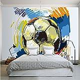 Weaeo Moderne Art Und Weise Handgemalte Graffiti-Fußball-Tapeten-Gewohnheits-Wandbild Nichtgewebter Innenwand-Dekorations-Kunst-Wandbild-Fußball-120X100Cm