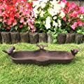 Vintage Style Bird Feeder or Bird Bath Garden Ornament Cast Iron Freestanding by AGI