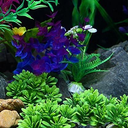 ALCYONEUS Green Fake Aquarium Plant Water Grass Ornament Fish Tank Plastic Decoration - #10 3