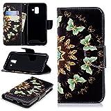 Bangcool Samsung Galaxy A6 2018 Wallet Case Fashion Shockproof TPU Flip Cover for Samsung Galaxy A6 2018