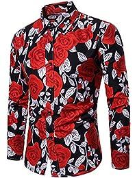 3cfbcf1f25528 Amazon.es  flores estampado - Camisas   Camisetas
