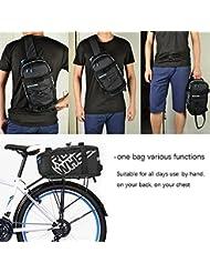 Mochila ieGeek Roswheel de Estante Portaequipajes de Bicicleta, Bolso de Hombro Mano para Viaje Negra