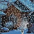 LED Schneeflocke ProjektorLicht Wasserdicht Weihnachten Schneefall Projektor Leuchten mit drahtloser Fernbedienung und Timing Funktion für Außen und Innen Deko,Partys, Weinachten und Feiertage von MINPE
