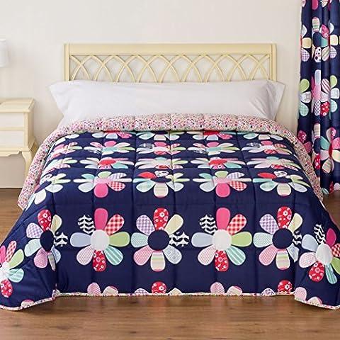 EDREDONES BARCELÓ - Edredones flores Otoño-Invierno de 300gr/m2 para cama de 90 cm (180x270). MODELO