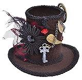 Steampunk Tall Top Hat (Mini), Fancy Dress Hat, Accessory