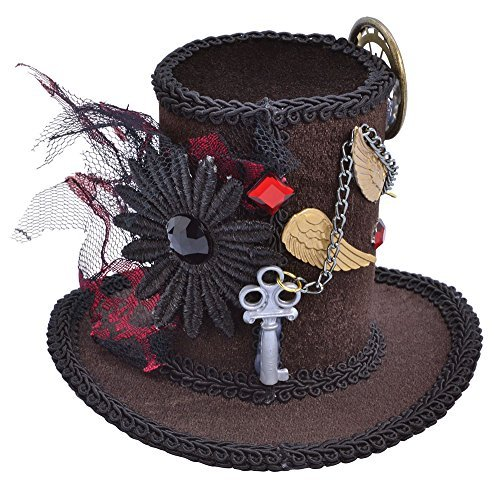 Steampunk Tall Top Hat (Mini) Accessory Fancy (Mini Hat Top)