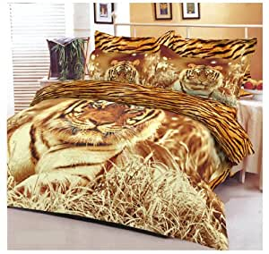 renforce bettw sche tiger life 135x200 baumwolle k che haushalt. Black Bedroom Furniture Sets. Home Design Ideas