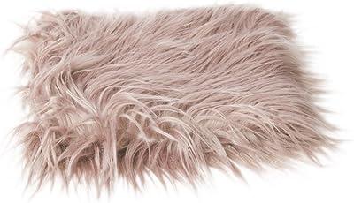 BESTOYARD Baby's Soft Fur Photo Props DIY Photography Mat (Khaki)
