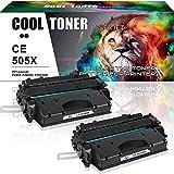 Cool Toner 2 Packs Kompatibel für HP 05X CE505X Toner für HP Laserjet P2055 HP Laserjet P2055D HP Laserjet P2055DN HP Laserjet P2055X, 6500 Seiten