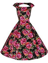 Pretty Kitty Blumendruck Baumwolle 50er Kleid