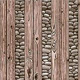 QXLML Fondo de pantalla imitación de madera de grano estilo chino retro pared papel pintado hotel hotel PVC impermeable tienda de papel tapiz de decoración 10 * 0.53 (M) ( Color : B )