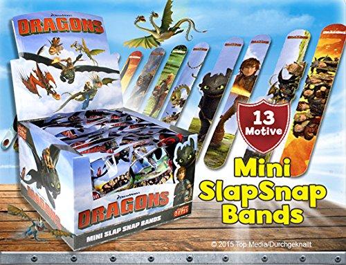 CRAZE Dragons Mini Slap Snap Bands Armband Armreif Kinderschmuck 51819, bunt Mini-snap