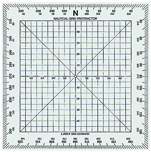 LINEX 100413015 Nautischer Winkelmesser mit senkrechter Kante 13 x13 cm quadratischer Winkelmesser