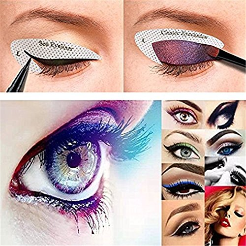ZyXy 96 Pairs Eyeliner Stencil Stickers Smokey Shaper Eyeshadow Drawing Guide Template Beauty Quickly Makeup Tool for Everyone from Beginner to Professionals