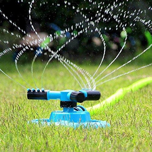 Alftek 360 Grados Giratorio automático aspersores de Tres Brazos pulverizador de Agua para riego de césped jardín riego