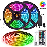 Elfeland LED Streifen 10M RGB LED Strip 300 LEDs 5050SMD LED Band Lichterkette Bänder Hintergrundbeleuchtung mit 44 Tasten Fernbedienung IP65 Selbstklebend Innen außen Beleuchtung Full Kit