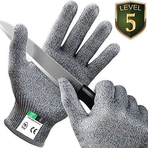 Kasimir® Schnittschutz Handschuhe Schnittfeste Handschuhe Extra Starker Level 5 Schutz, EN-388 Zertifiziert, Lebensmittelecht - Hochwertig und Leicht, für Küche Garten oder Beruf 1 Paar/Größe S