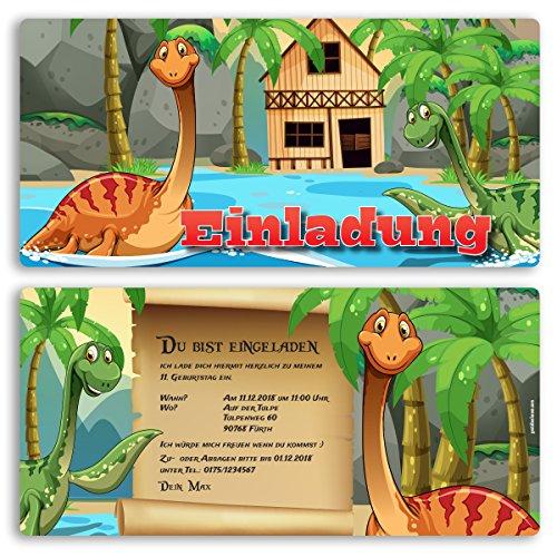 (10 x) Einladungskarten Kindergeburtstag Dinosaurier Kinder Geburtstag Einladungen (Geburtstag Einladungen Dinosaurier)