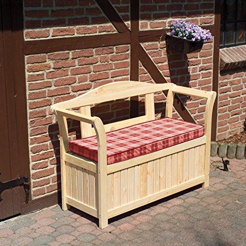 Promadino Friesenbank mit Kissenbox + Sitzauflage
