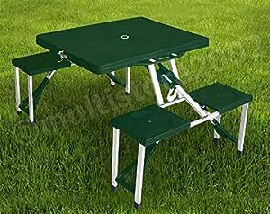 Picknick Set Camping Sitzgruppe Klapptisch - 4 Personen
