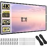 """Projectorscherm 120 """"Dikker Materiaal 16:9 HD Opvouwbaar Anti-vouw Draagbaar Projectiefilm voor Thuis, Kantoor, Feest, Klaslo"""