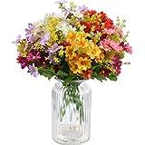 XONOR - 10 ramos de flores artificiales de seda falsas, flores de ganso, plantas para interior, hogar, boda, decoración