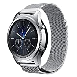 Gear S3 Watch Band, NXET® Milanese Loop Stainless Steel Bracelet Smart Watch Strap for Samsung Gear S3 Frontier/S3 Classic/ Moto 360 2nd Gen 46mm Smartwatch (Silver)