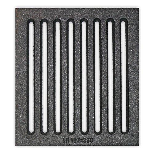 Liegerost 19,7 x 22 cm - Gussrost Ofenrost Ascherost Tafelrost Kaminrost Premiumqualität