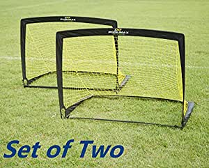 Podiumax Durable Set of 2 Kids Pop Up Football Goal with Carrying bag(4*3*3ft)