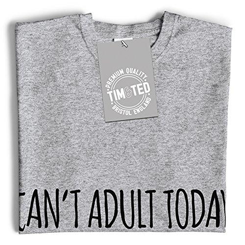Kann nicht Adult Heute lustiger Slogan Kühle Childish Dumme Jugend Junge Herren T-Shirt Yellow