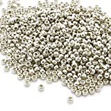 Preciosa Beads Unlimited – metálico Plata Checa Cristal rocalla/Semillas 8/0-pack de 50 G