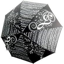 Paraguas automático Música Negro ...