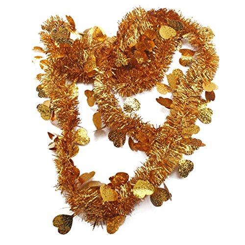 outgeek Lametta Garland, 10pcs Hängenden Lametta Girlande Sparkly Herzform Dekorative Garland Valentines Day Decor