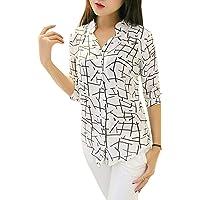 J B Fashion Women's Animal Print Regular fit (Shirt White L)
