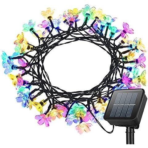 Litom Multi-color 50 LEDs Luces Solar al aire libre diseño Hada Luz Decoracion para el jardin,Patio,Fiesta,Dormitorio,Navidad,Decoracion interior y