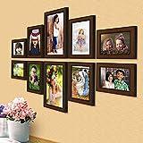 "[Sponsored]Ajanta Royal Set Of 10 Individual Photo Frames (4-4""x6"", 4-5""x7"", 2-6""x10"" Inch) Brown : A-91B"