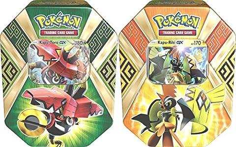Pokemon - 1x Kapu-Toro-GX + 1x Kapu-Riki-GX Tin Box -