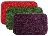#8: Ishwa Handicraft Style Eco Series 3 Piece Cotton Blend Door Mat Set