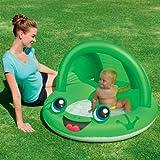 Baby Planschbecken Schwimmbecken Babypool Badespaß Kinderpool mit Sonnenschutz