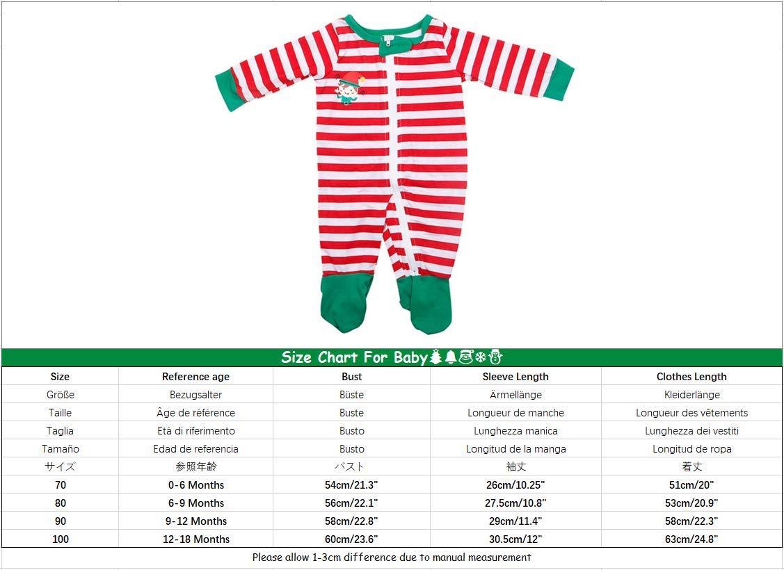YOFASEN Pijamas Navideños Familiares - Ropa de Dormir para Mujeres Hombres Bebé Niño Invierno Algodón Pijamas Dos Piezas… 5