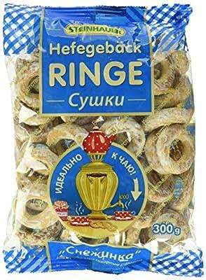 """Steinhauer Hefegebäckringe """"Schneeflocke"""" mit Zuckersirup glasiert, 16er Pack (16 x 300 g)"""