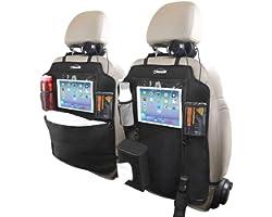 Protezione per seggiolino auto Oasser in 2 pezzi, protezione per sedile, portaoggetti per sedile posteriore impermeabile, 9 t