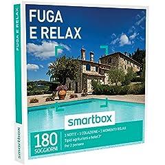 Idea Regalo - Smartbox Cofanetto Regalo - FUGA RELAX - 180 soggiorni dal fascino rustico: in agriturismi, B&B o hotel 3* con momento relax