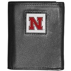 NCAA Nebraska Cornhuskers Deluxe Leather Tri-fold Wallet