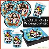 Kleine Piraten - Party Paket Kindergeburtstag Teller, Becher, Servietten