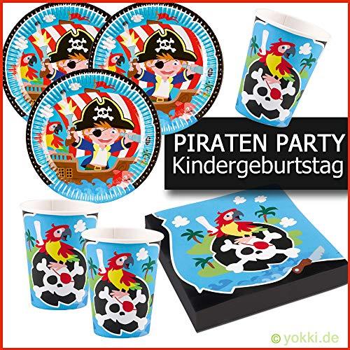 Piraten Teller - Kleine Piraten - Party Paket Kindergeburtstag