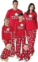 Pigiama Famiglia Indumenti da Notte Abiti Natalizi Tuta Elegante 2PC Uomo Donna Bambini T-Shirt Babbo Natale Tops +...